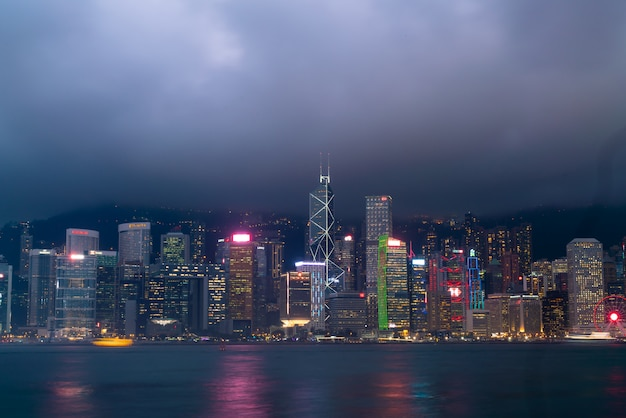 Victoria harbour in hong kong