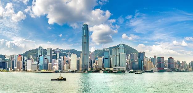中国、香港のビクトリアハーバー