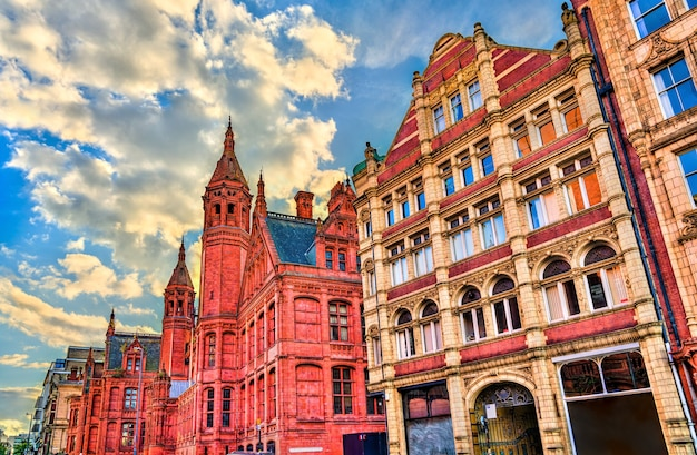The victoria law courts on corporation street in birmingham, england