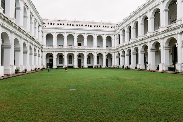 Victorian architectural style with center courtyard inside indian museum.