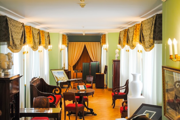 Victorian room with furniture