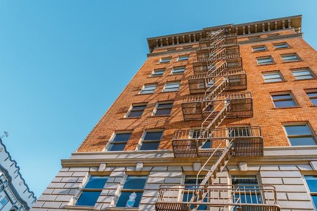 빅토리아 스타일의 주거용 건물 아름다운 건축물 샌프란시스코