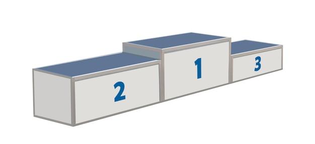 Подиум победы, изолированные на белом фоне. платформа для победителей