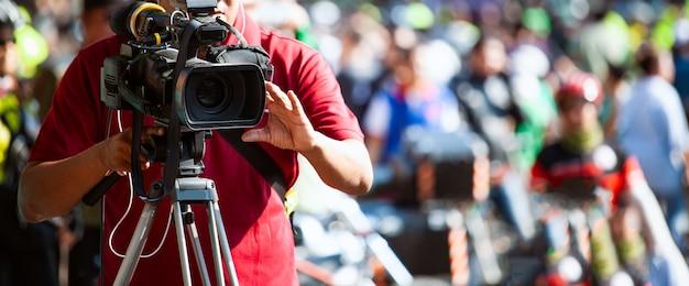 이벤트를 다루는 비디오 카메라