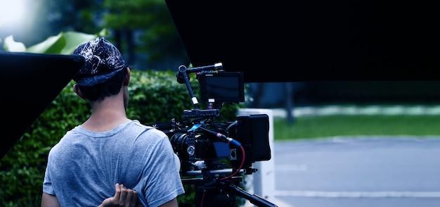 Видеопроизводство за кадром создание рекламного ролика съемочной группы team lightman