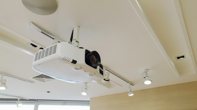 Video projector on ceiling