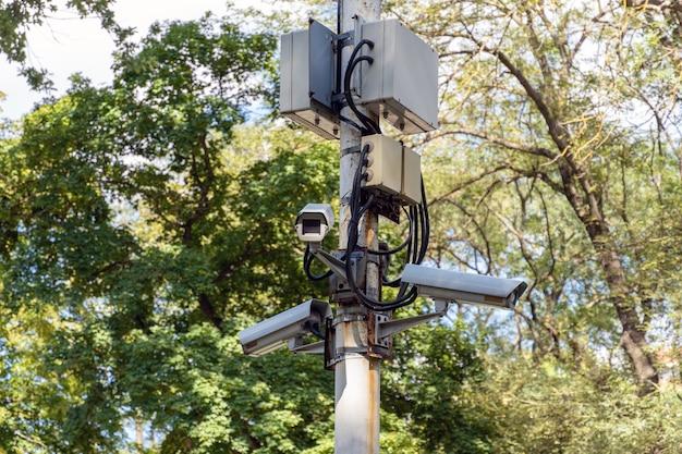 Система видеонаблюдения с несколькими камерами в парке