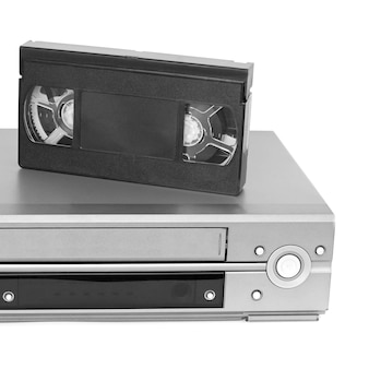 ビデオカセットとビデオデッキ。