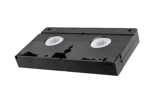Видеокассета для просмотра фильмов на белом фоне, видеокассета.