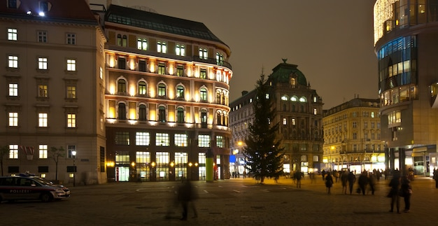Vienna in night.   austria