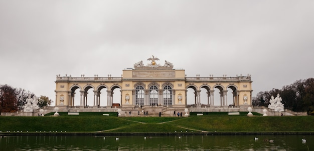 Vienna schonbrunn palace gardens and city