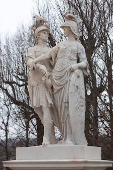 Vienna  statue in park of castle schonbrunn