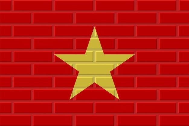 Vietnam brick flag illustration