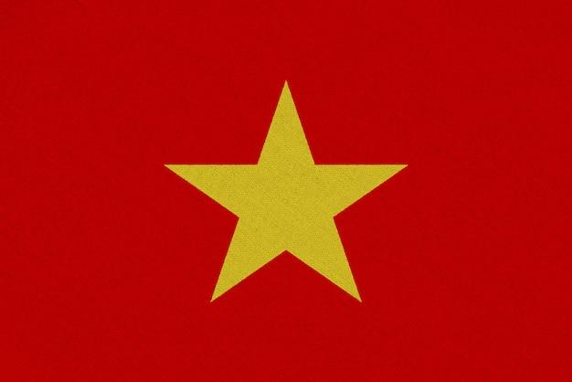 Vietnam fabric flag