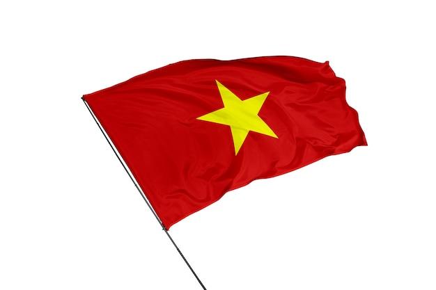 Vietnam flag on a white background