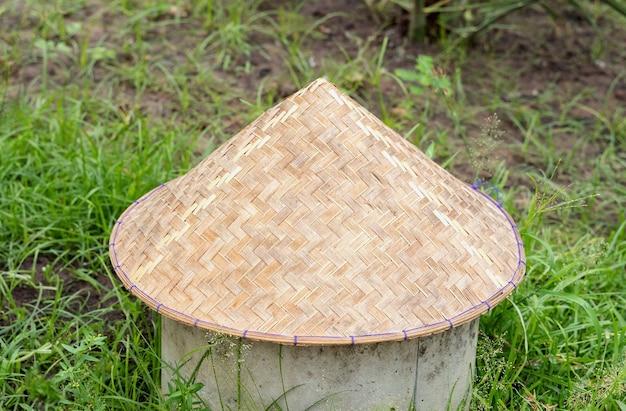 베트남 원뿔형 모자(non la). 클로즈업 이미지입니다.