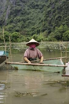 Vietnamese farmers and fishermen in rural villages.