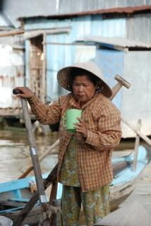 Vietnamese lady with a drink