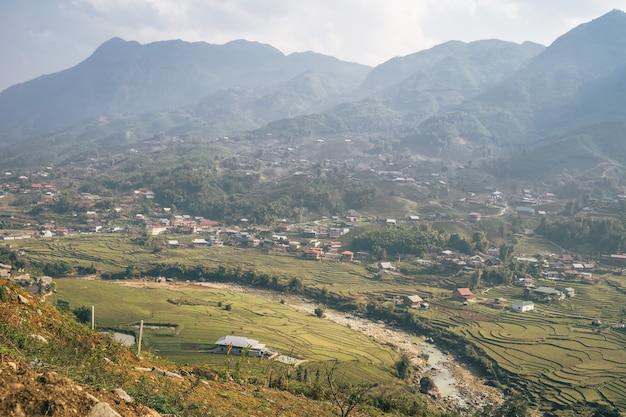 Вьетнамский пейзаж в са па