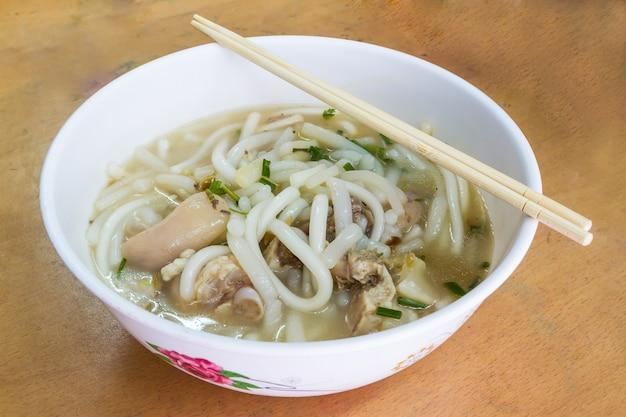 Vietnamese rice jub, vietnamese noodle soup, pork spare ribs rice noodles soup