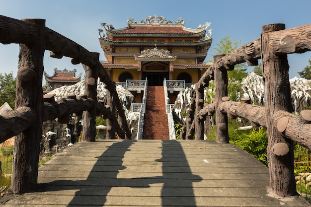Vietnamese temple lumbini