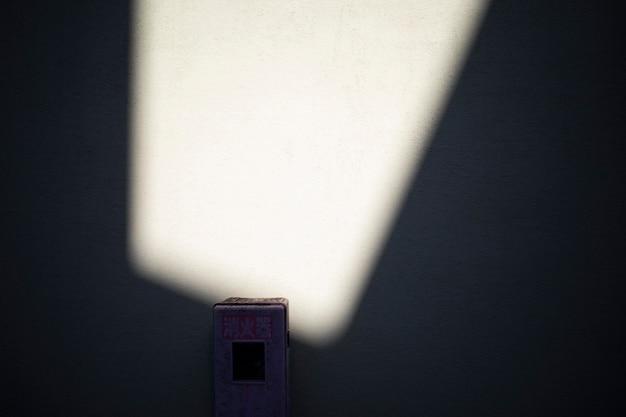 Vista delle ombre astratte della luce del giorno all'aperto