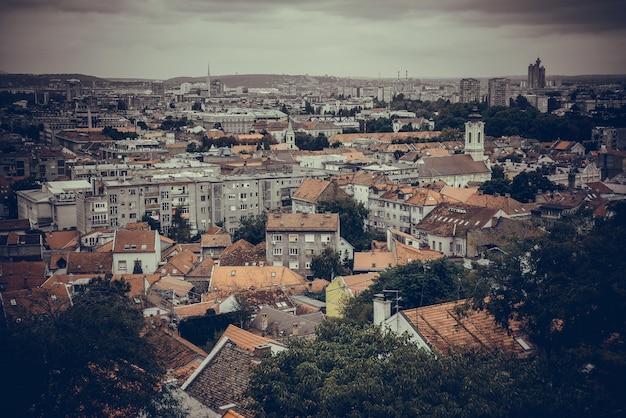 View across zemun to belgrade. serbia