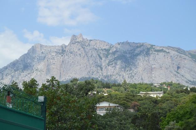View of ai-petri mountain in the crimea