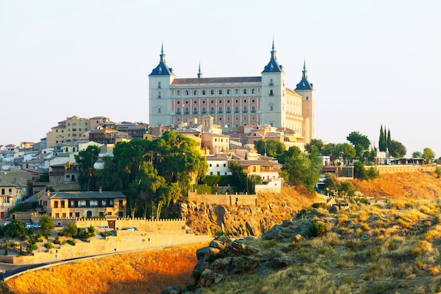 View of alcazar of toledo in sunny morning Free Photo