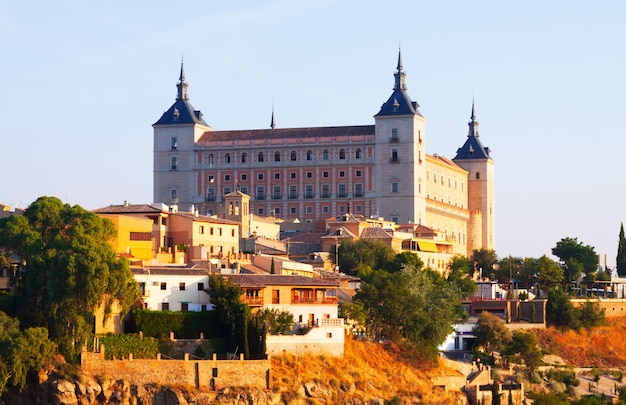 View of alcazar of toledo in sunny time Free Photo