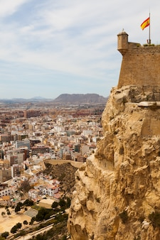 View of alicante  from castle.