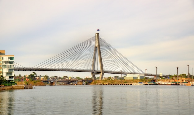 View of the anzac bridge in sydney