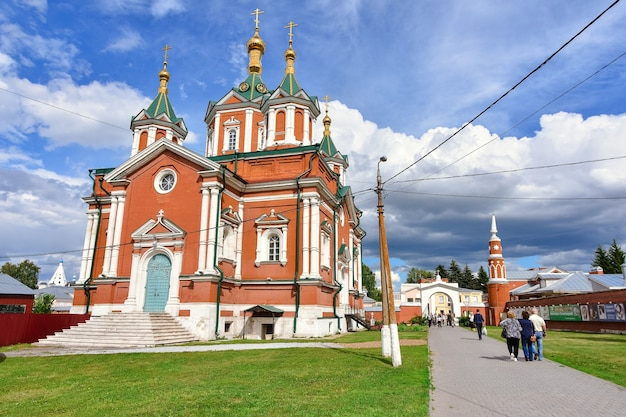 View of the assumption brusensky convent, monastery against the blue sky