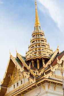 Вид на большой дворец в бангкоке, таиланд