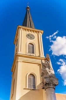 Pancevo, 세르비아에있는 st. carlo borromeo 교회에서보기
