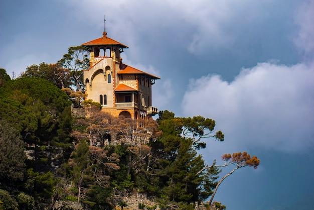 イタリア、ポルトフィーノのヴィラプンタカイエカで見る