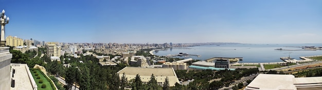 The view of baku city in azerbaijan