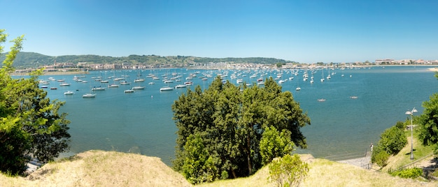 View of the bay of hendaye, pyrenees