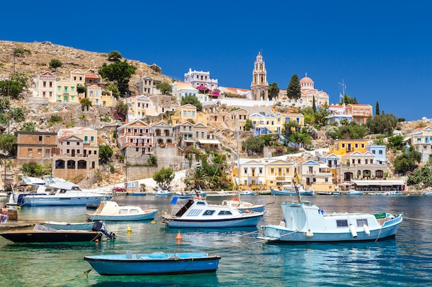 View of the bay at symi island