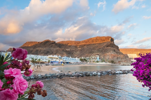 View of the beach in gran canaria