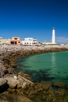 View of the beautiful island of farol located in the algarve, portugal.