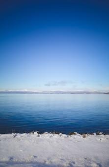 View of beautiful ushuaia in winter.