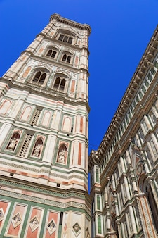 View of the bell tower of the florence cathedral