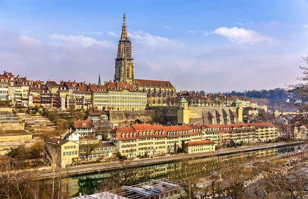 View of bern with its munster switzerland