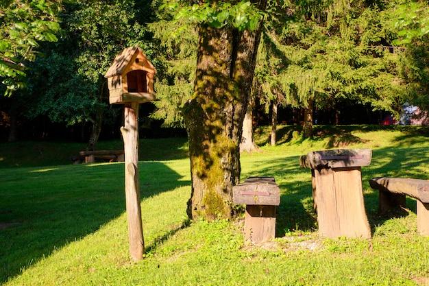 View of birdhouse