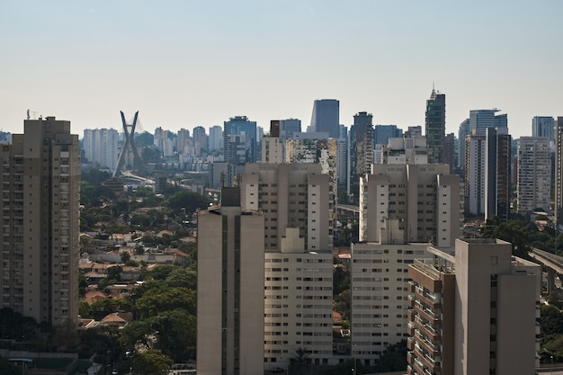 View of the brooklyn neighborhood in sao paulo with the cable