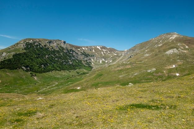 View of bucegi mountains, romania