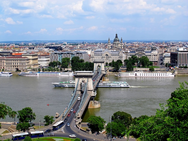 The view on budapest city, hungary