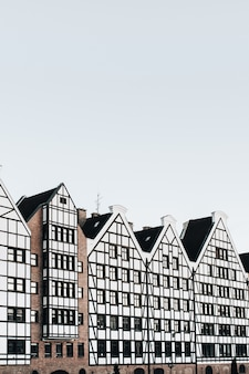 View of buildings in old town of gdansk, poland
