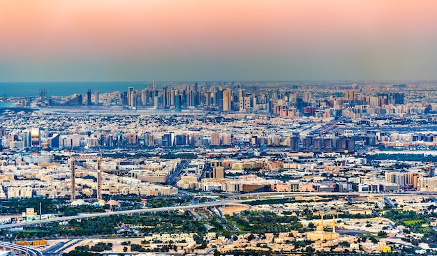 View of bur dubai, the creek, deira and sharjah - the emirates